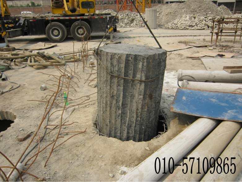 楼房基础水钻开挖孔